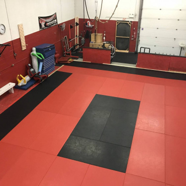 Another shot of the BJJ mats