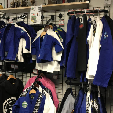 We carry BJJ Gi's Maeda, and KingZ children and adult sizes